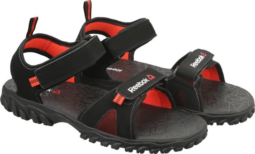 3ab0b34d8720 REEBOK Men BLACK CAROTENE RED Sports Sandals - Buy BLACK CAROTENE ...