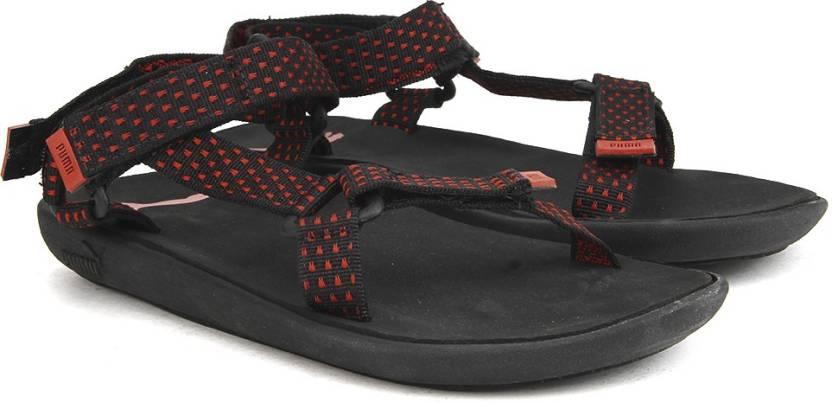 2ecf20c5a56d Puma Men black-high risk red-steel gray Sports Sandals - Buy black-high  risk red-steel gray Color Puma Men black-high risk red-steel gray Sports  Sandals ...
