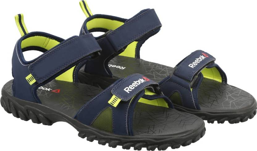 a05b79296 REEBOK Men COLL NAVY YELLOW GRAVEL Sports Sandals - Buy COLL NAVY YELLOW  GRAVEL Color REEBOK Men COLL NAVY YELLOW GRAVEL Sports Sandals Online at  Best Price ...