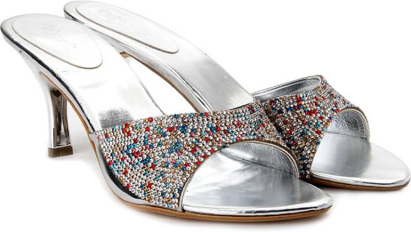 2751e689319e1 Catwalk Women Silver Heels - Buy Silver Color Catwalk Women Silver ...