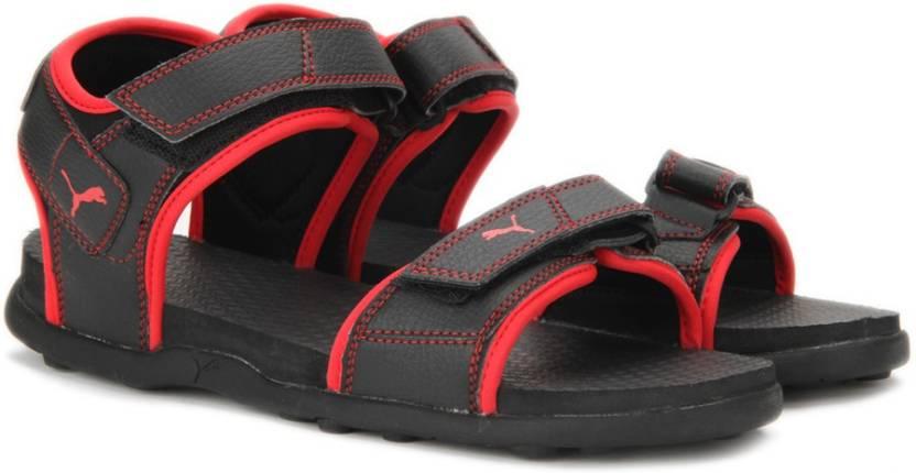 dbeafe40ed27 Puma Men Puma Black-High Risk Red Sports Sandals - Buy Puma Black-High Risk  Red Color Puma Men Puma Black-High Risk Red Sports Sandals Online at Best  Price ...