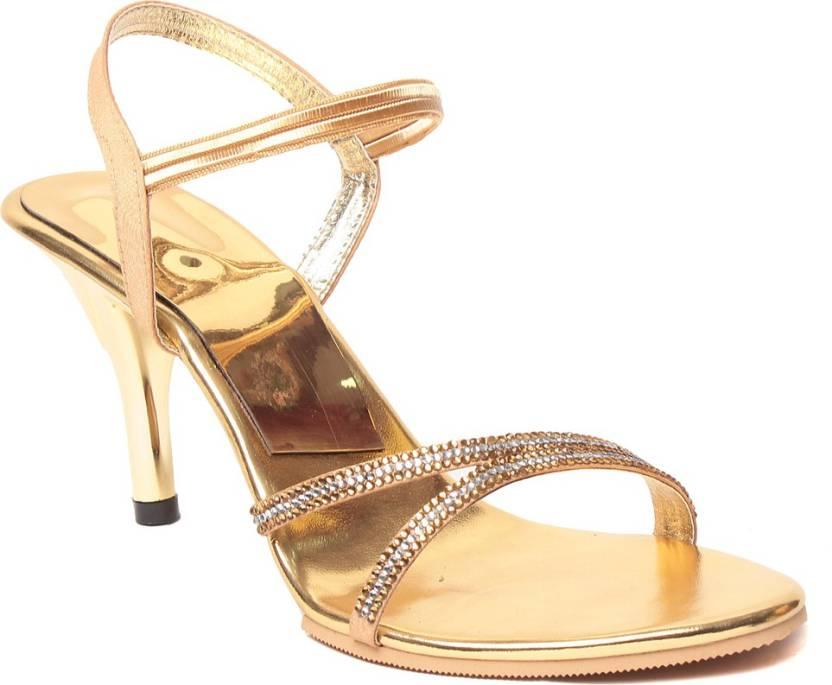 4a422f4efe Eliana Women Golden Heels - Buy Golden Color Eliana Women Golden Heels  Online at Best Price - Shop Online for Footwears in India | Flipkart.com