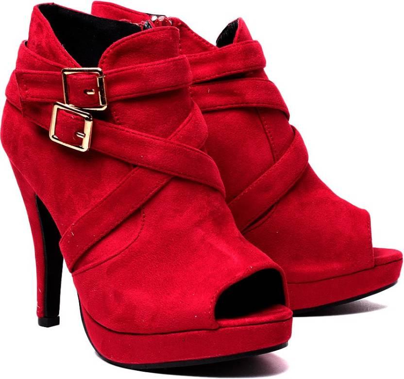 Klaur Melbourne Women Red Heels - Buy Red Color Klaur Melbourne ...