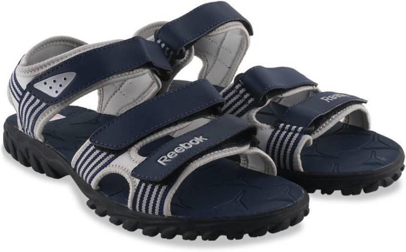 9c23f20f696a REEBOK Men NAVY SILVER BLACK Sports Sandals - Buy NAVY SILVER BLACK Color REEBOK  Men NAVY SILVER BLACK Sports Sandals Online at Best Price - Shop Online for  ...