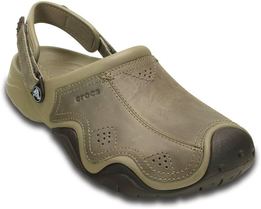 2d8af52e54bcc Crocs Men Brown Sandals - Buy 202368-23G Color Crocs Men Brown Sandals  Online at Best Price - Shop Online for Footwears in India