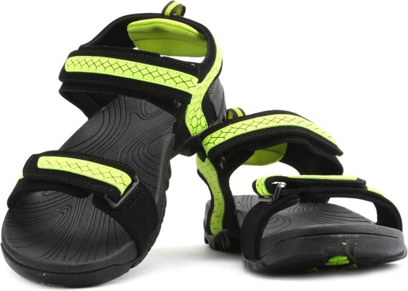 Fila Men Blk, Neo Grn Sports Sandals