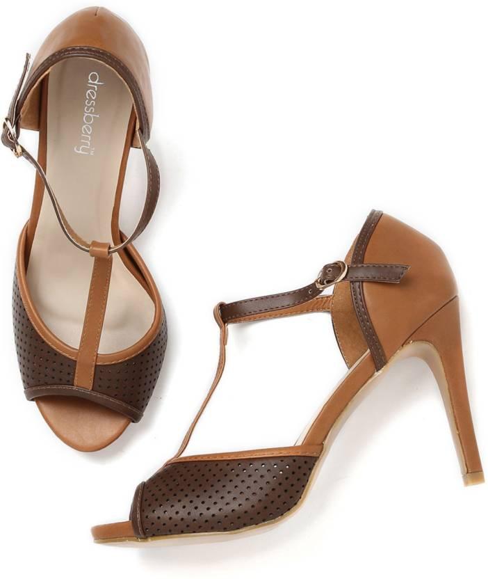 d6145b0edcbb Dressberry Women Brown Heels - Buy Brown Color Dressberry Women Brown Heels  Online at Best Price - Shop Online for Footwears in India