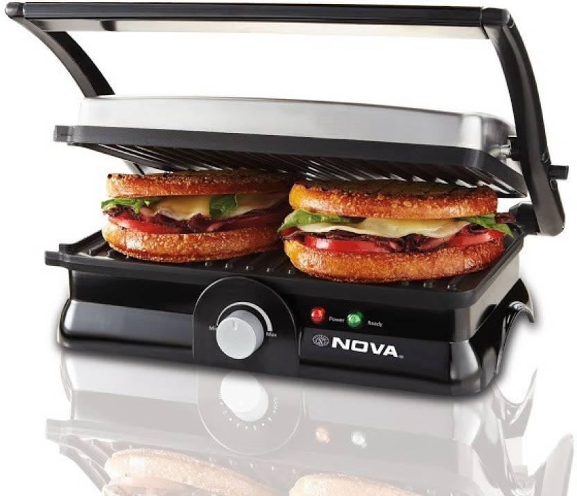 Nova 3 in 1 Panni Grill Press with Adjustable Temperature Control Grill, Toast