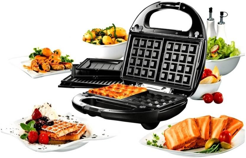 Upto 70% off On Home & Kitchen Appliances By Flipkart | Nova 3 In 1 Snack Magic Nsm 2403 Grill, Toast (Black) @ Rs.1,899