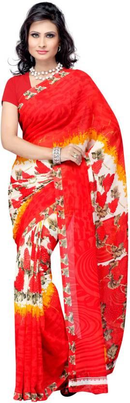 Ambaji Printed Daily Wear Georgette Sari