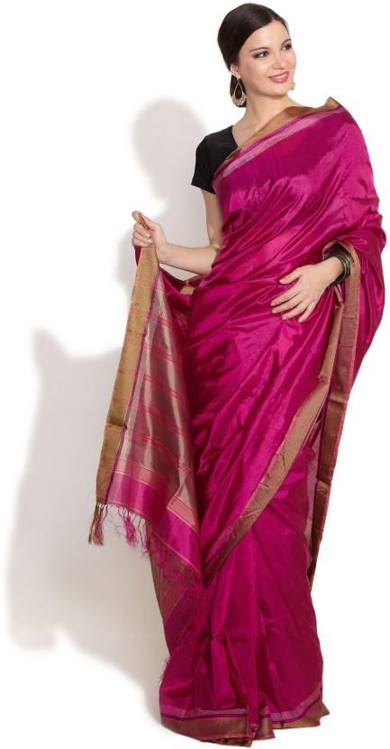 FabIndian Printed Silk Saree