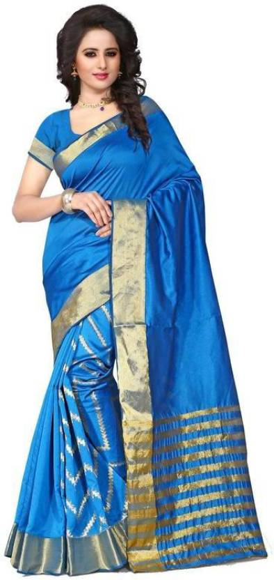 Fabcart Self Design Fashion Polycotton Sari