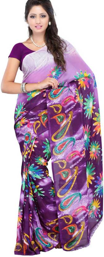 Ambaji Floral Print Daily Wear Georgette Saree