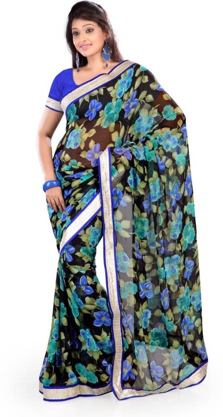 Ishin Printed Fashion Chiffon Saree