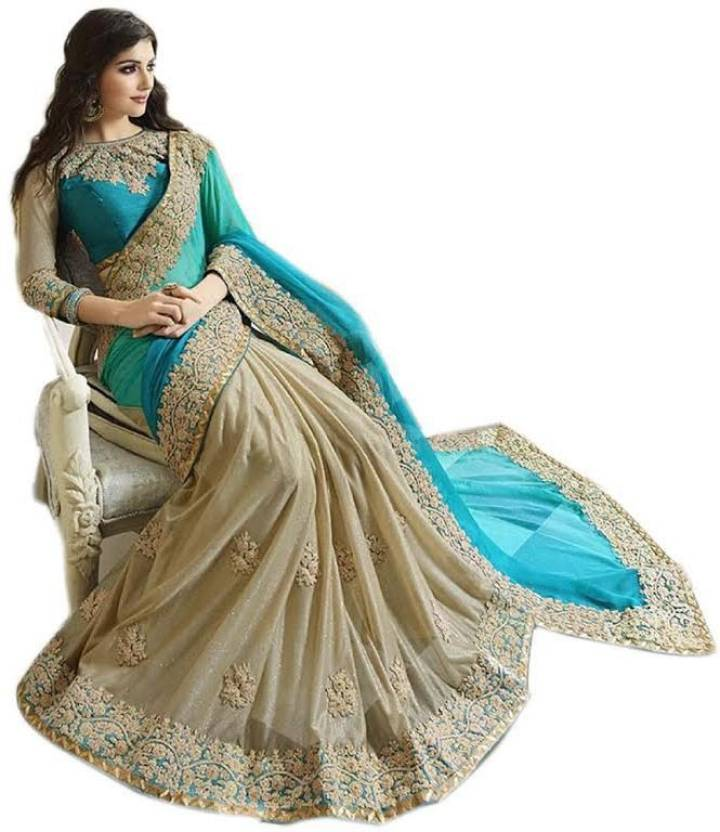 050d256da0 TrynGet Embroidered Bollywood Georgette Saree (Light Blue). Price: Not  Available