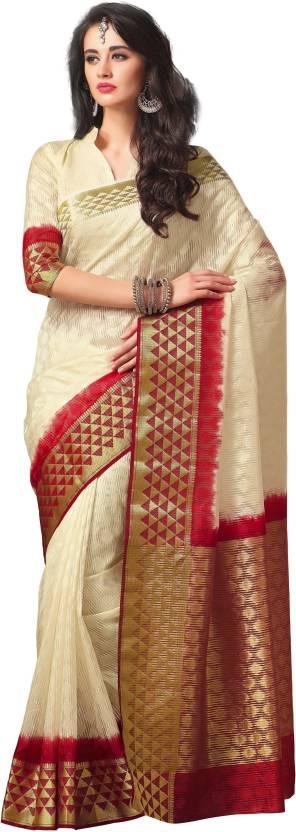Taanshi Self Design Kanjivaram Tussar Silk Saree