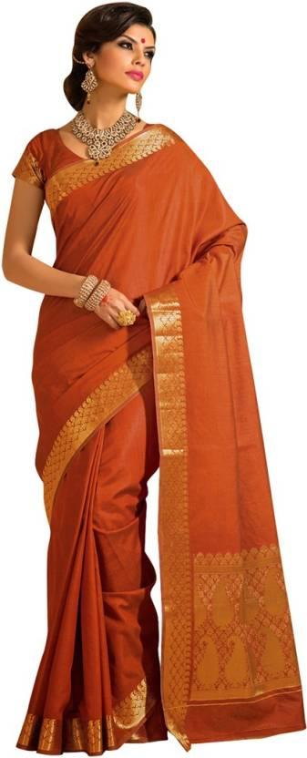 EthnicBasket Self Design Fashion Handloom Tussar Silk Sari