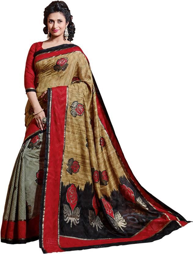 Roop Kashish Printed Bhagalpuri Art Silk Sari