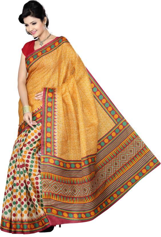 Ishin Printed Fashion Art Silk Saree