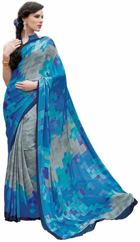 Vipul Printed Fashion Crepe Sari