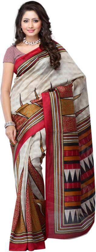 Ambaji Printed Bhagalpuri Silk Sari