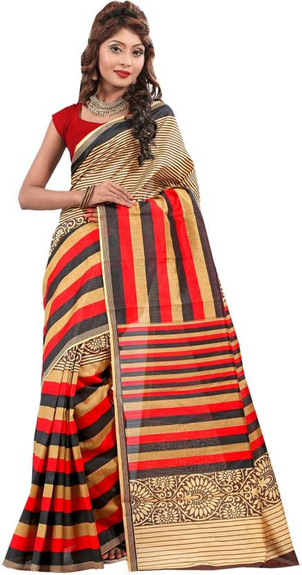 Ishin Printed Fashion Art Silk Saree