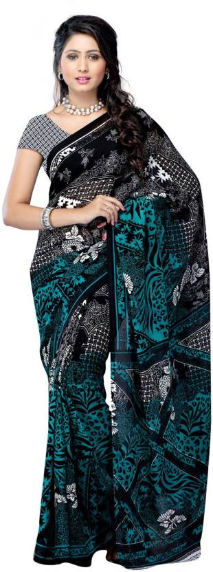 Ambaji Printed Fashion Georgette Saree