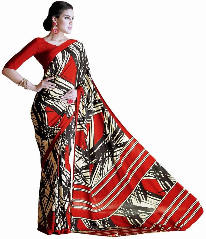 EthnicBasket Printed Fashion Handloom Silk Saree