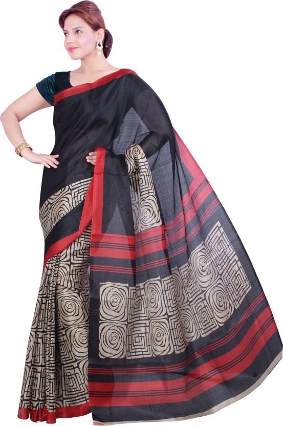 Ishin Printed Fashion Silk Sari