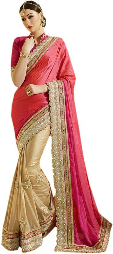 799fc59965 Buy Odhni Embroidered Bollywood Chiffon, Lycra, Shimmer Fabric Gold ...