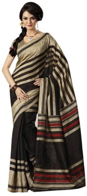 Bhavi Striped Fashion Art Silk Saree