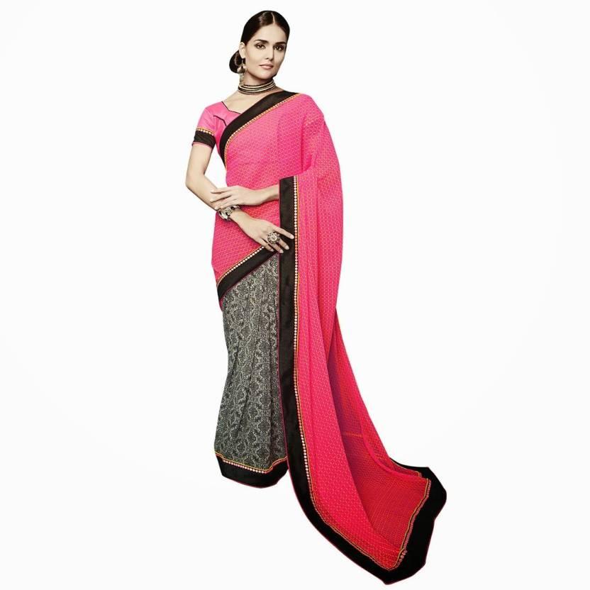 EthnicBasket Printed Fashion Handloom Georgette Sari