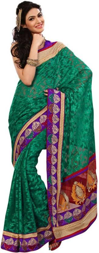 Ambaji Printed Fashion Jacquard Saree