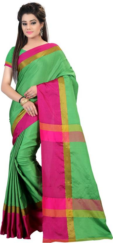 c90c11eb9f2 Glory Sarees Self Design Daily Wear Handloom Cotton Blend