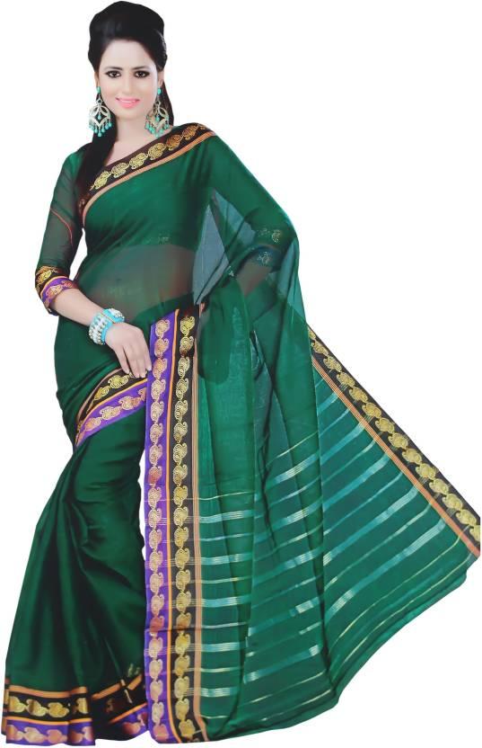 732837ac773b49 Buy bhivare Woven Ilkal Silk Cotton Blend Dark Green Sarees Online ...