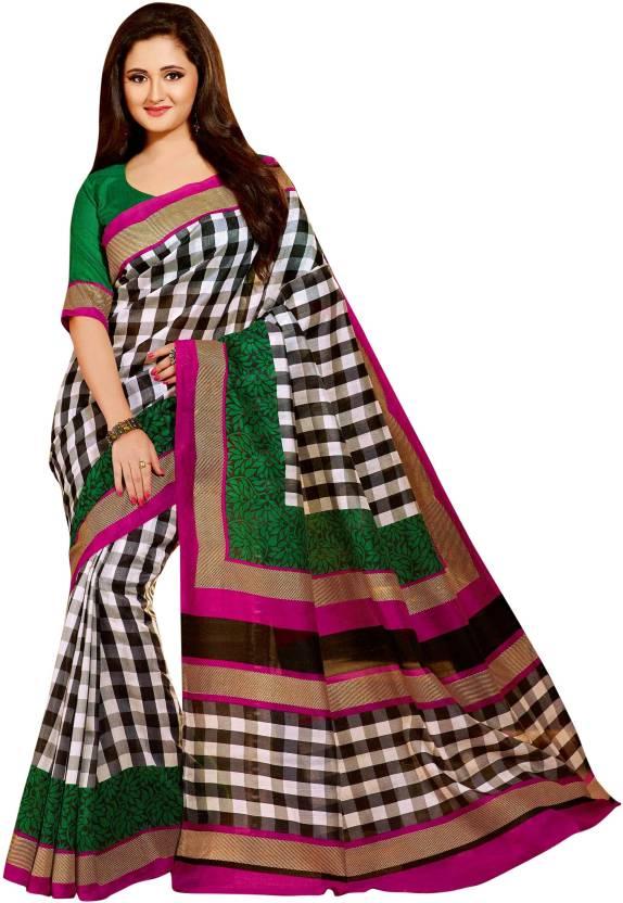 Ishin Printed Bhagalpuri Silk Saree