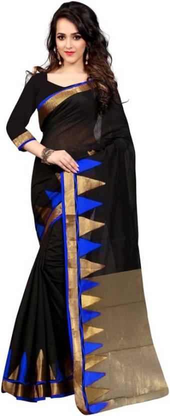 The Fashion World Self Design Fashion Polycotton Sari