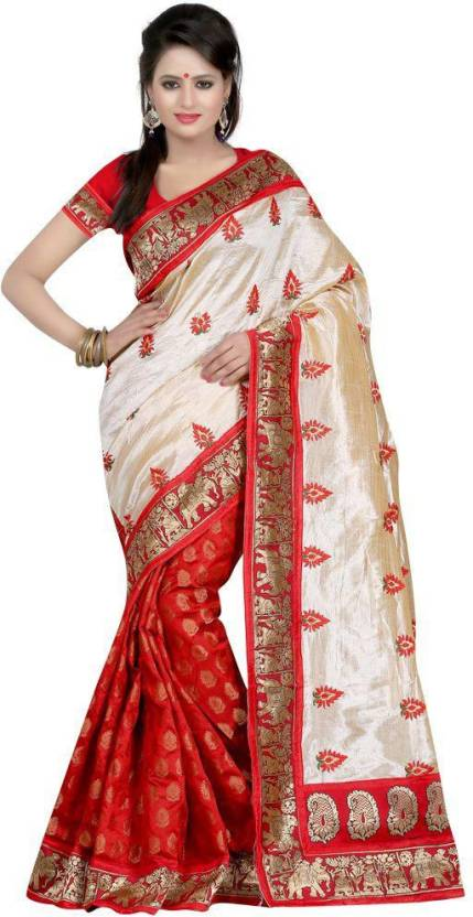 266d04602e Buy Bollywood Designer Self Design Bollywood Silk Red Sarees Online ...