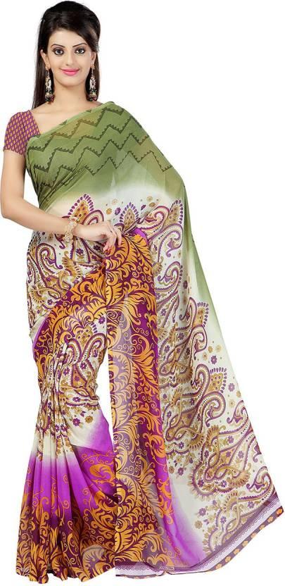 Ambaji Floral Print Daily Wear Georgette Sari