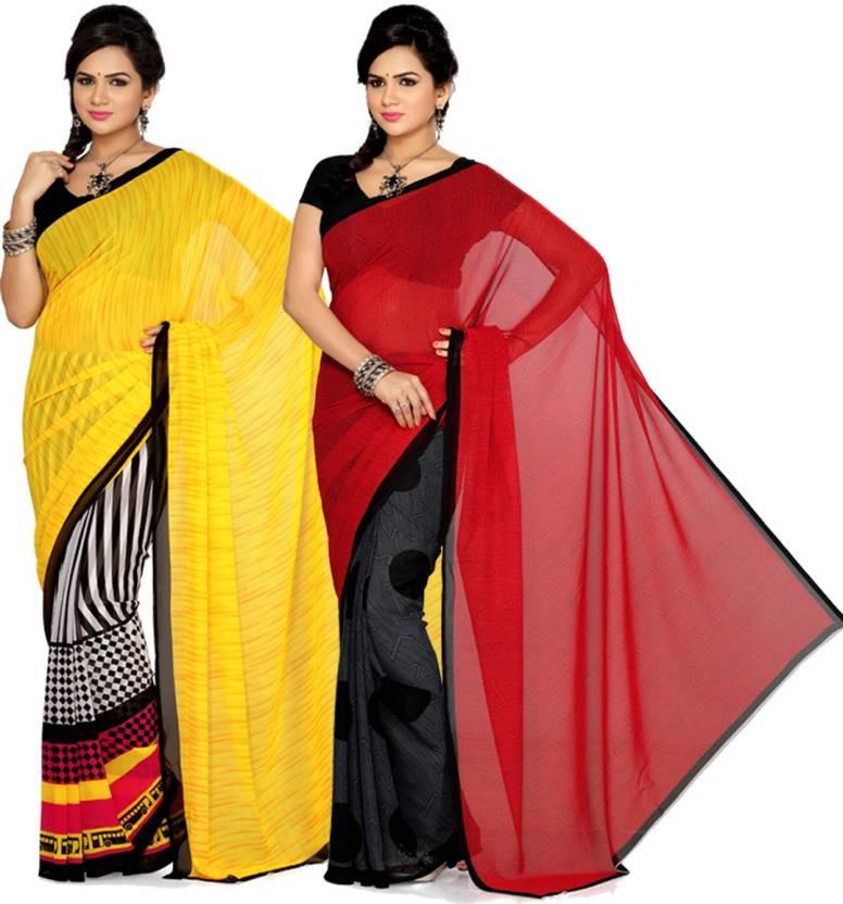 Ishin Printed Fashion Georgette Sari