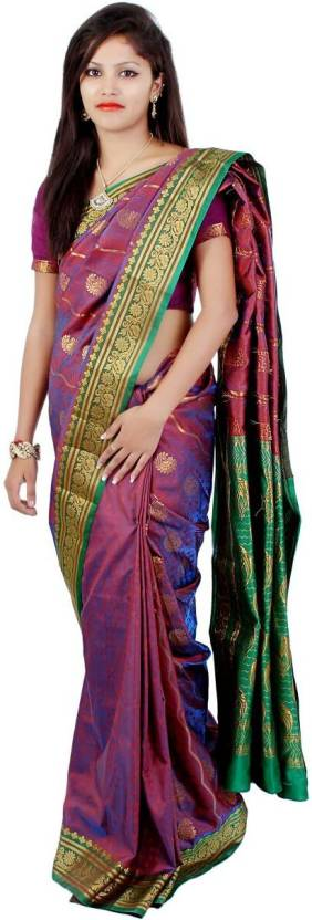 Shanti Creation Embellished Banarasi Banarasi Silk Saree