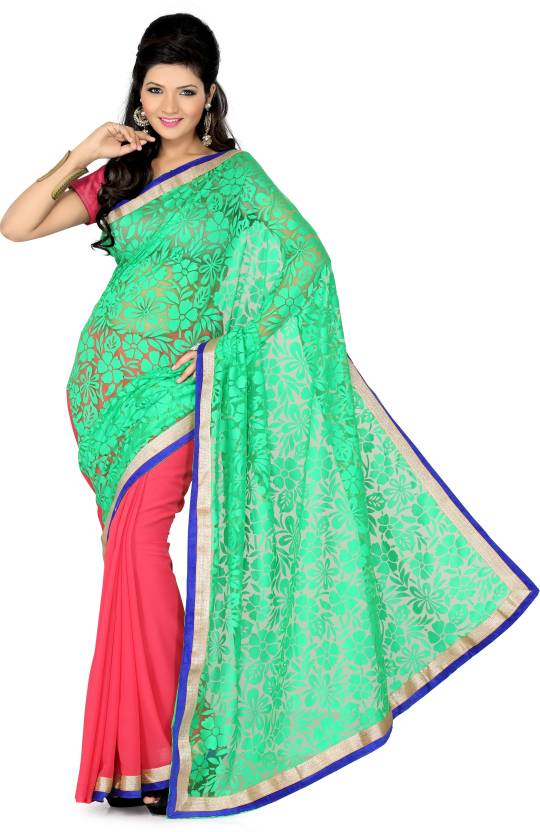 Ishin Self Design Fashion Georgette Saree
