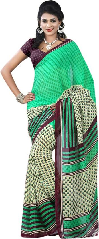 EthnicBasket Printed Daily Wear Handloom Georgette Saree
