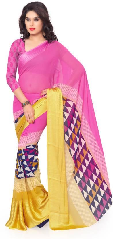 Roop Kashish Embellished Bollywood Georgette Sari