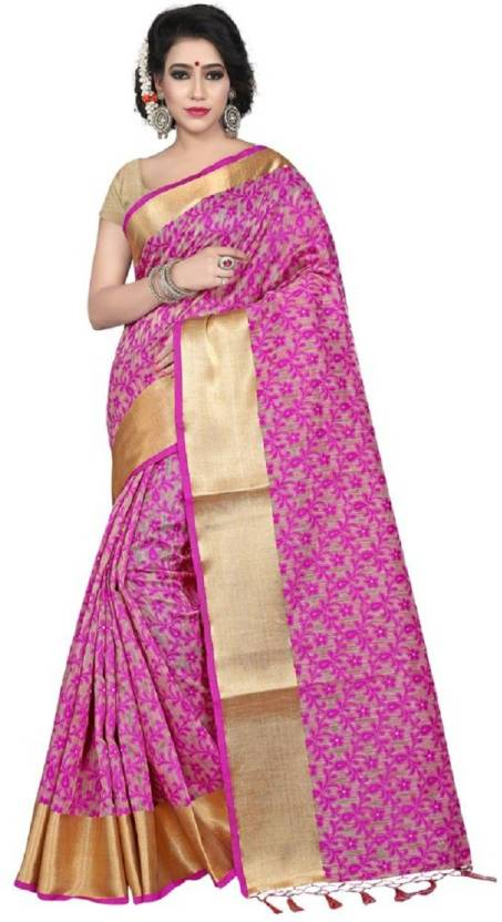 7f0621954d Jay Fashion Self Design Paithani Banarasi Silk, Cotton, Art Silk, Cotton  Linen Blend, Tussar Silk Saree (Pink, Beige, Gold)