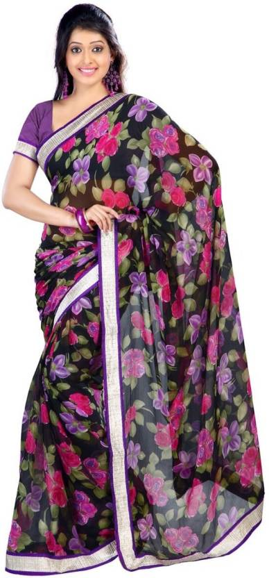 Ishin Printed Fashion Chiffon Sari