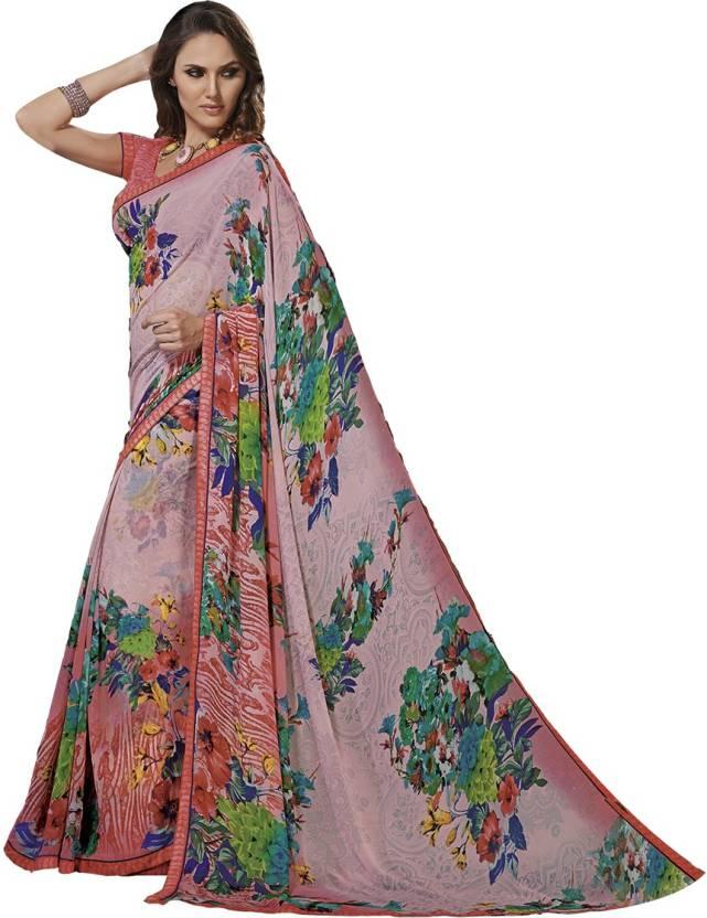 Ishin Floral Print Fashion Georgette Saree