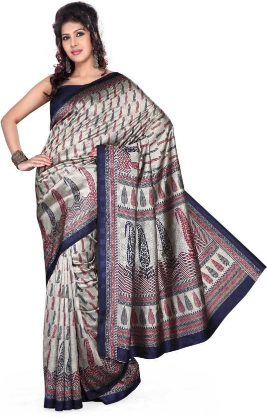Ishin Printed Bhagalpuri Art Silk Saree