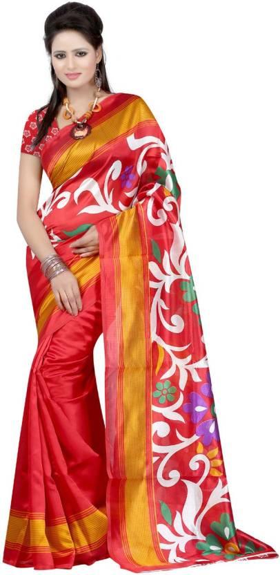 Ambaji Floral Print Fashion Net Saree