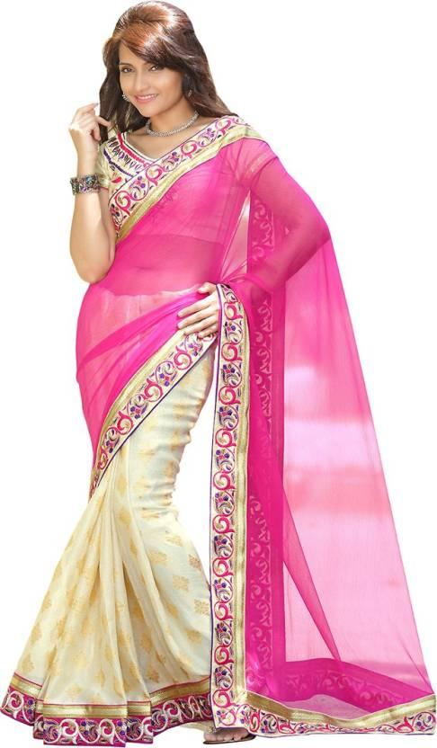 EthnicBasket Self Design Fashion Handloom Chiffon Saree